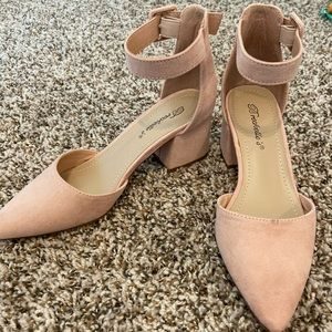 Light Pink Closed Toe Heels (Red Dress Boutique)